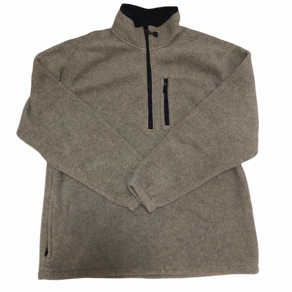 Eddie Bauer Quarter Zip Mens Sweatshirt